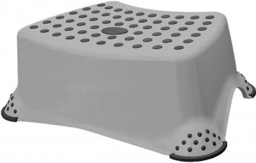 Plastový taburet mini, sivý, 40x28x14 cm