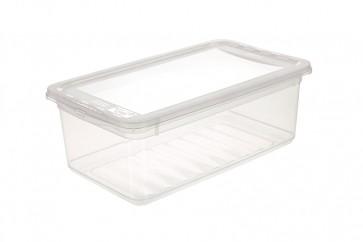 Plastový box Basixx 5,6 l, priehľadný.