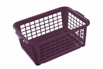 Plastový košík, malý, fialový, 25x17x10cm - POSLEDNÍCH 5 KS