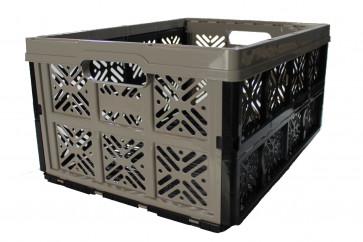Plastový skládací box, malý, sivý