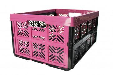 Plastový skládací box, malý, ružový