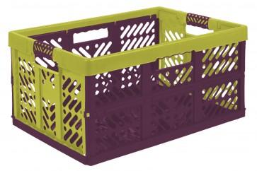 Plastový skladací box, veľký, viacfarebný, 54x37x28 cm