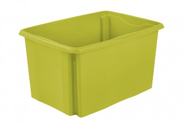 Plastový box Colours, 45 l, zelený bez veka, 55x39,5x29,5 cm - POSLEDNÉ 3 KS