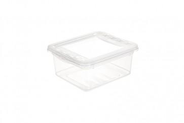 Plastový box Basixx 1,7 l, priehľadný.