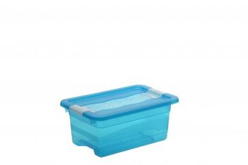 Plastový box Crystal 4 l, svieža modrý, 29,5x19,5x12,5 cm