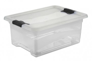 Plastový box Crystal 12 l, priehľadný, 39,5x29,5x17,5 cm