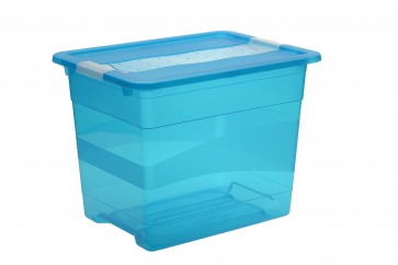 Plastový box Crystal 24 l, svieža modrý, 39,5x29,5x30 cm POSLEDNÝ KUS