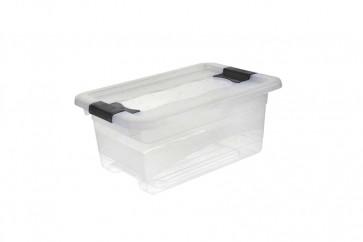 Plastový box Crystal 4 l, priehľadný, , 29,5x19,5x12,5 cm