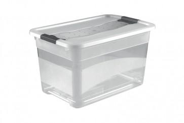 Plastový box Crystal 52 l, priehľadný, 59,5x39,5x34 cm
