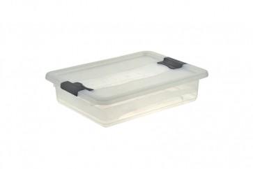 Plastový box Crystal 7 l, priehľadný, 39,5x29,5x9,5 cm