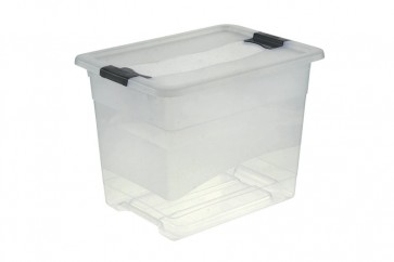 Plastový box Crystal 24 l, priehľadný, 39,5x29,5x30 cm