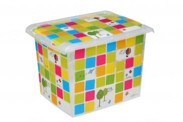 """Plastový box Fashion, """"KIDS"""", 39x29x27 cm - POSLEDNÝCH 6 KS"""