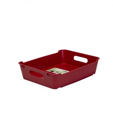 Plastový box LOFT A5, tmavo červený, 28x22x6,5 cm. POSLEDNÝCH 11 KS