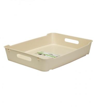 Plastový box LOFT A4, krémový, 37x28,5x6,5 cm. POSLEDNÉ 4 KS