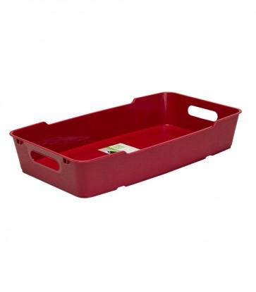 Plastový box LOFT 5,5 l, tmavo červený, 40x22x7 cm. POSLEDNÝ KUS
