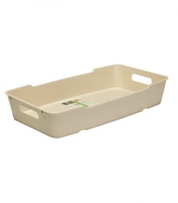 Plastový box LOFT 5,5 l, krémový, 40x22x7 cm - POSLEDNÉ 4 KS