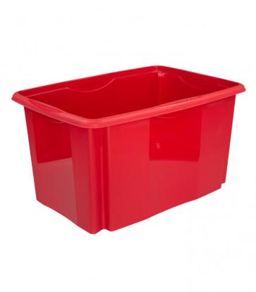 Plastový box Colours, 45 l, červený, 55x39,5x29,5 cm Posledných 12 KS