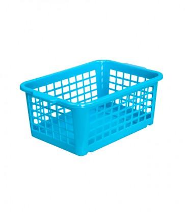 Plastový košík, malý, modrý, 25x17x10cm - POSLEDNÝCH 6 KS