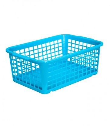 Plastový košík, stredný, modrý, 30x20x11 cm