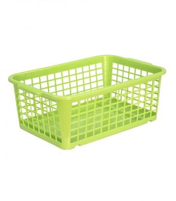 Plastový košík, stredný, zelený, 30x20x11 cm - POSLEDNÝCH 8 KS
