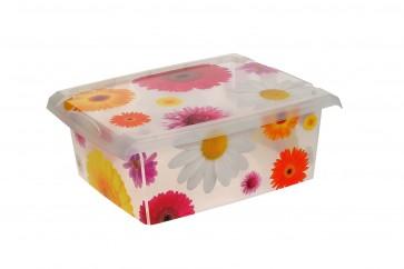 "Plastový box Fashion, ""Pink Flowers"", 39x29x14 cm - POSLEDNÉ 3 KS"