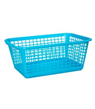 Plastový košík, velký, modrý, 35x26x15 cm
