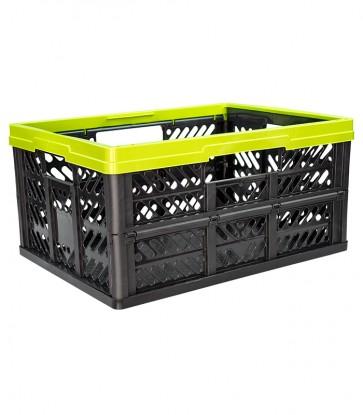 Plastový skladací box, malý, zelený, 47x34x23 cm - POSLEDNÝ KUS