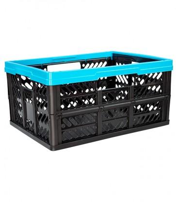 Plastový skladací box, malý, modrý, 47x34x23 cm - POSLEDNÝ KUS