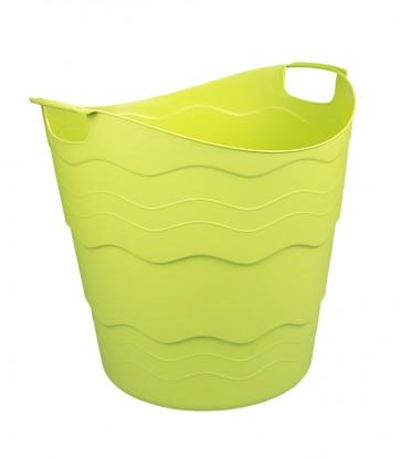 Plastový koš FLEX, 30 l, zelený
