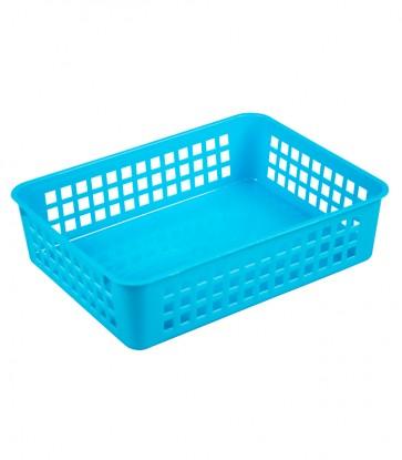 Plastový košík, A5, modrý, 24,5x18,5x6 cm - POSLEDNÝCH 1 KS