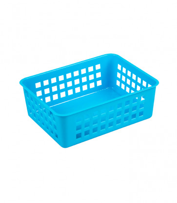 Plastový košík, A6 modrý, 18,5x14x6 cm
