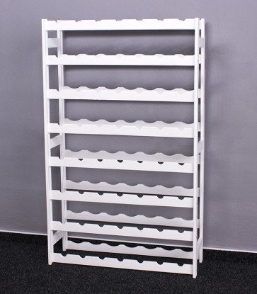 Regál na víno Raced, na 56 fliaš, Lazur - biely, 118x73x25 cm