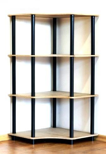 Regál rohový kombinovaný Dedal, 4 police 108x55x55 cm