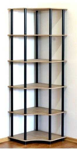 Regál rohový kombinovaný Dedal, 6 políc, 176x55x55 cm