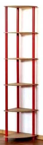 Regál rohový kombinovaný Dedal, 6 políc, 176x33x33 cm