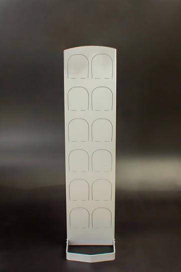 Kovový regál na topánky Silver 6 párov topánok, 126 x 30,5 x 5,5 cm (stojan 35 cm, konzoly 14 cm)