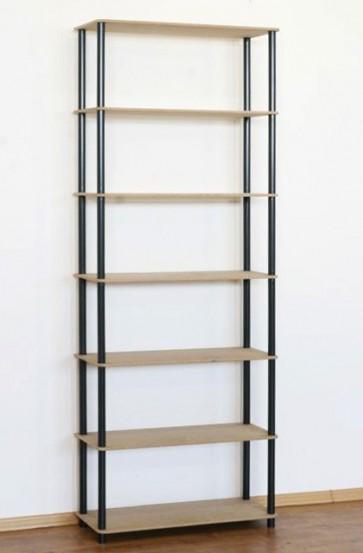 Regál kombinovaný Dedal, 7 políc, 210x80x33 cm