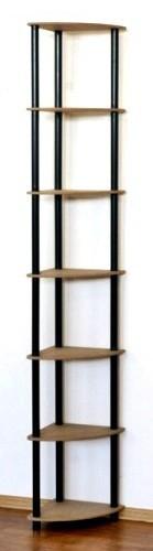 Regál rohový kombinovaný Dedal, 7 políc, 210x33x33 cm