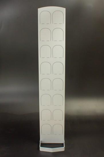 Kovový regál na topánky Silver 8 párov topánok, 164 x 30,5 x 5,5 cm (stojan 35 cm, konzoly 14 cm)