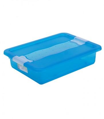 Plastový box Crystal 7 l, svieži modrý, 39,5x29,5x9,5 cm - POSLEDNÉ 2 KS