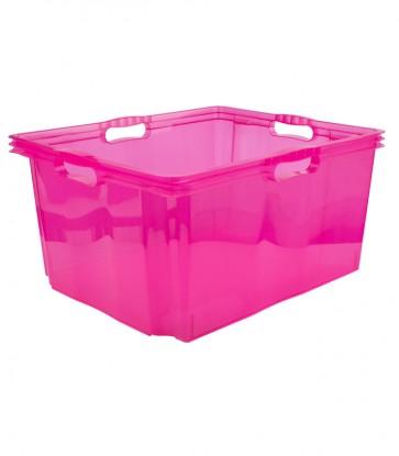 Plastový box Multi XXL, svieža ružový, bez veka, 52x43x26 cm - POSLEDNÝ KUS