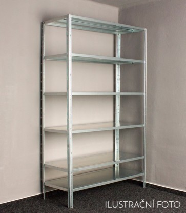 Kovový regál Idea, 6 políc, 240x100x30 cm, 90 kg