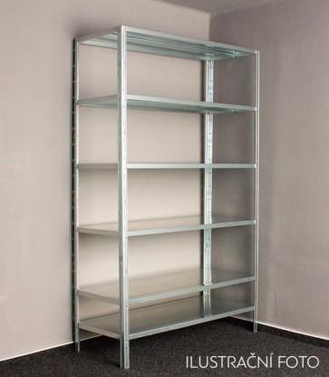 Kovový regál Idea, 6 políc, 300x100x30 cm, 90kg