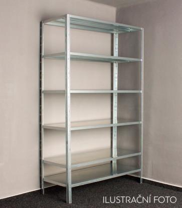 Kovový regál Idea, 9 polic, 300x120x30 cm, 80 kg
