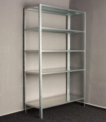 Kovový regál Idea, 5 políc, 200x100x40 cm, 130kg