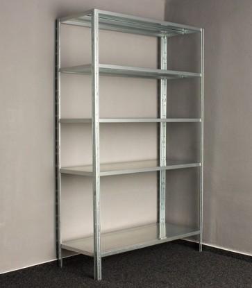 Kovový regál Idea, 5 políc, 240x100x30 cm, 90 kg