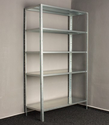 Kovový regál Idea, 5 políc, 200x100x60 cm, 120kg