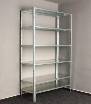 Kovový regál Idea, 6 políc, 240x120x60 cm, 120kg
