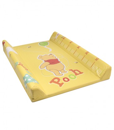 Detská prebaľovacia podložka Medvedík Pú v žlto medovej farbe s metrom - 70x50x10 cm