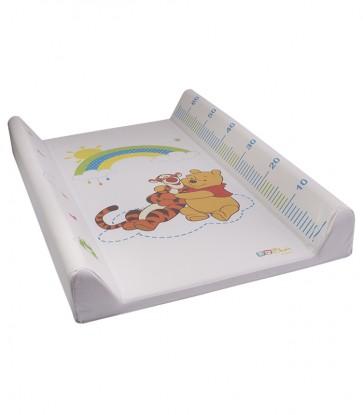 Detská prebaľovacia podložka Medvedík Pú v bielej farbe s metrom - 70x50x10 cm